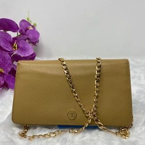 Authentic Preowned Tan Chanel Beige Wallet